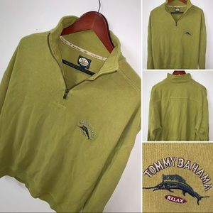 Tommy Bahama Relax Mens 1/4 Zip Pullover Sweater L